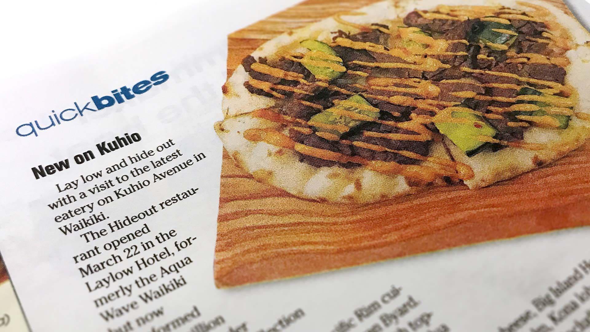 The LayLow Waikiki Newspaper Article