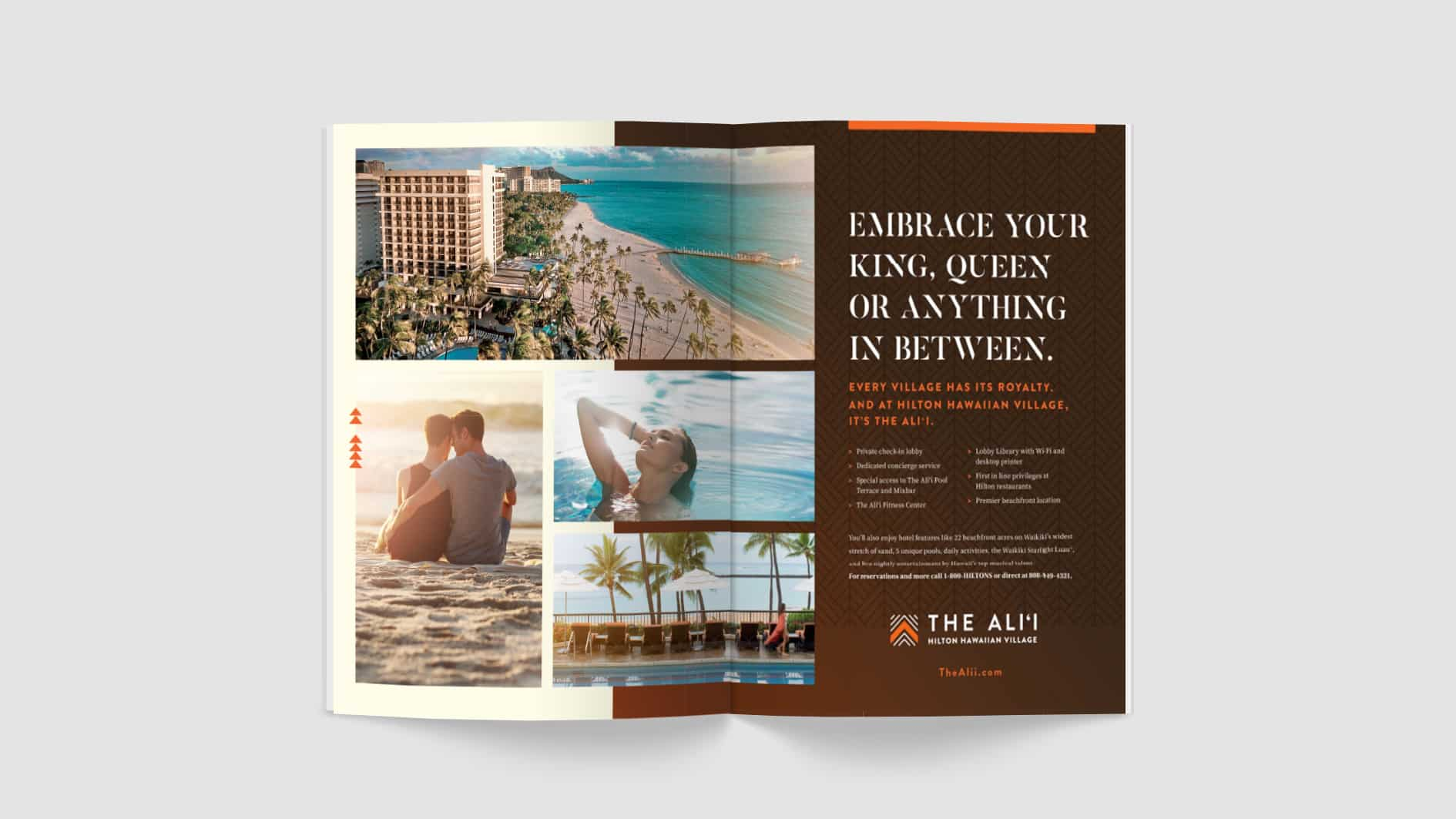 The Ali'i Magazine Spread